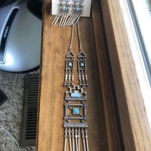 Stepwell necklace/earrings set — so stylish!